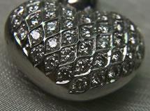 Silberanhänger-Herz - Mit Konturverschnitt